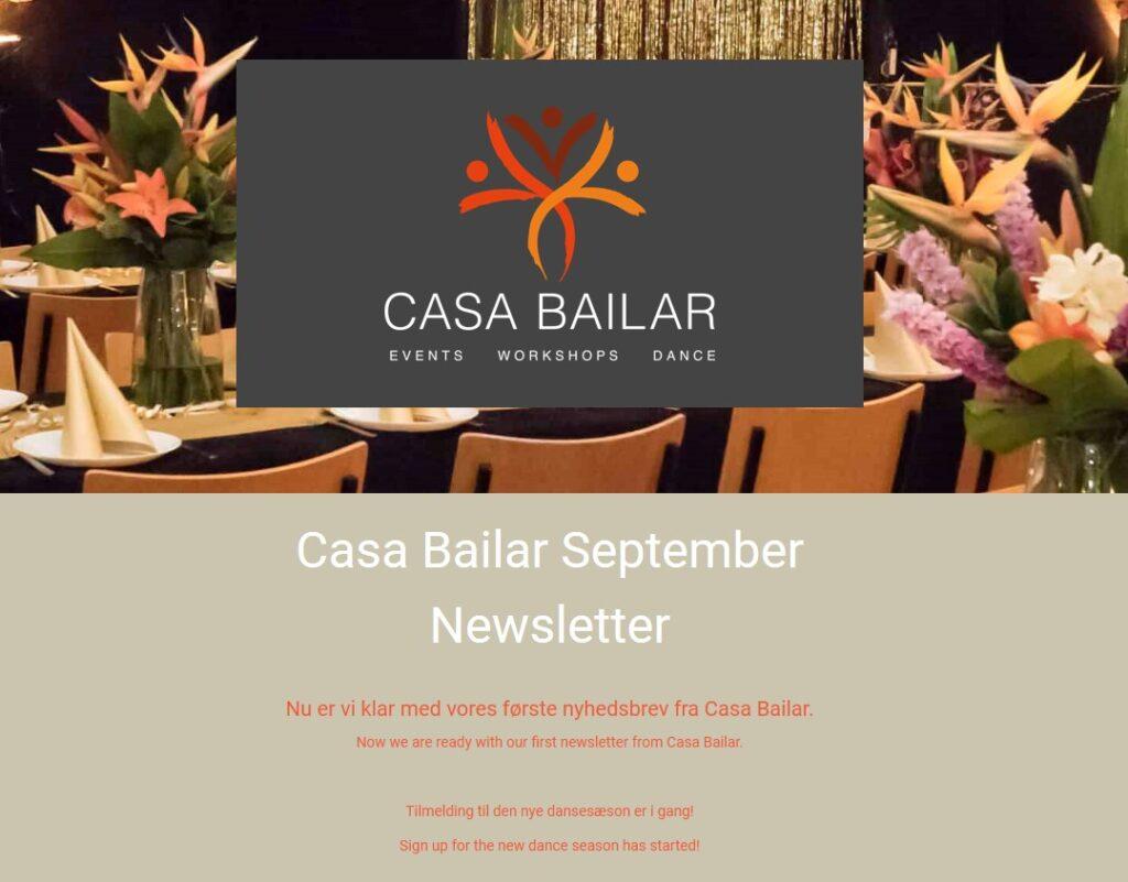 Casa Bailar Nyhedsbrev